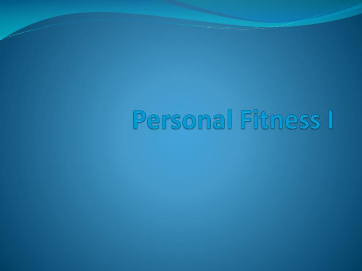 personal fitness i n.