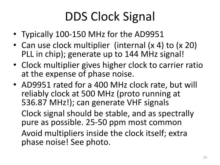 DDS Clock Signal