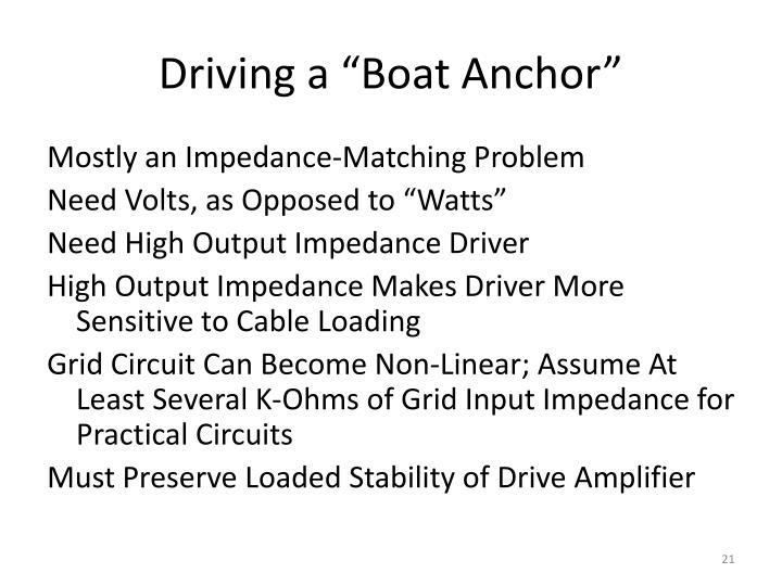 """Driving a """"Boat Anchor"""""""