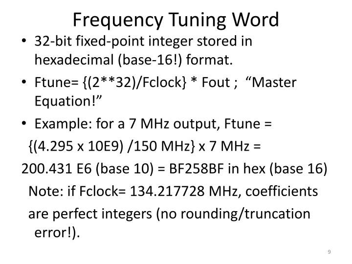 Frequency Tuning Word