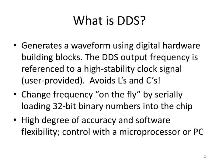 What is dds