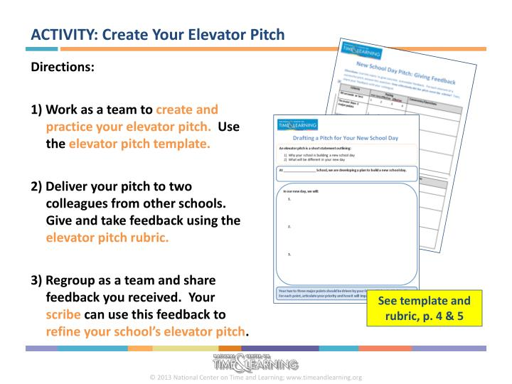 ACTIVITY: Create Your Elevator Pitch