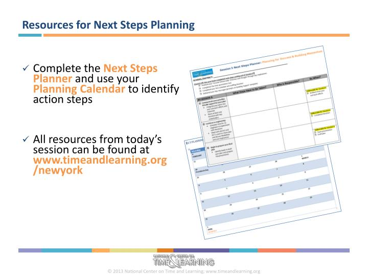 Resources for Next Steps Planning