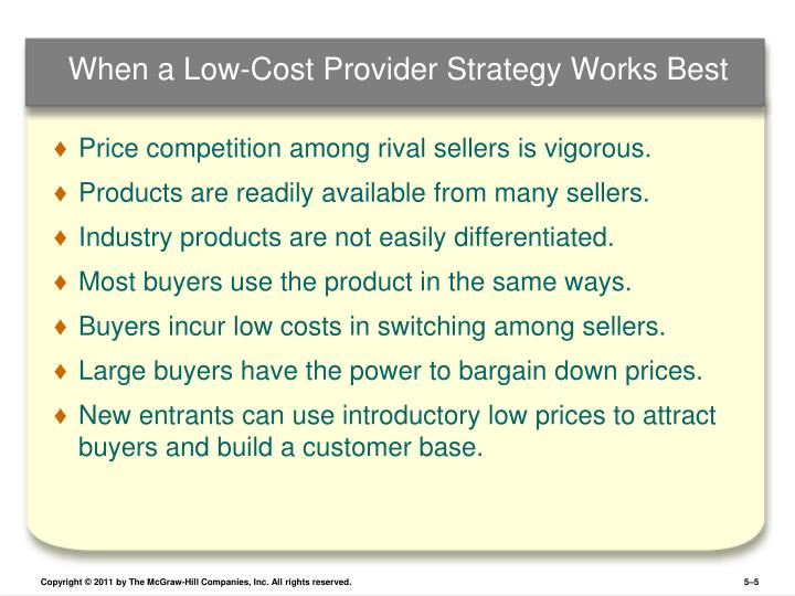 best cost strategy companies