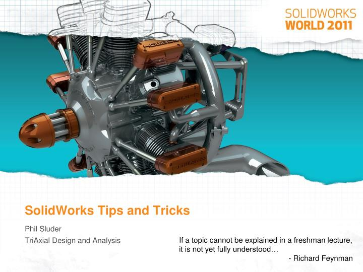 solidworks tips and tricks n.