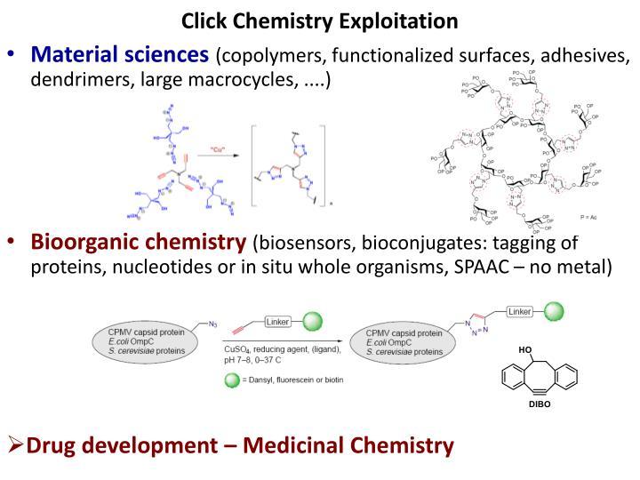 Click Chemistry Exploitation