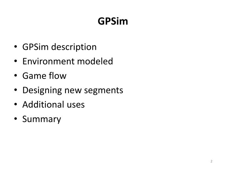 PPT Government Procurement Simulation GPSim Overview - Game flow summary