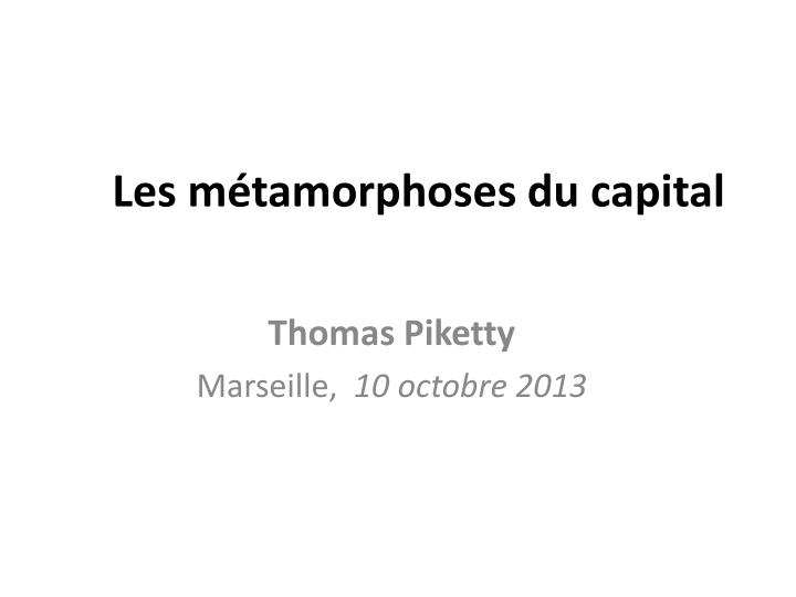 les m tamorphoses du capital n.