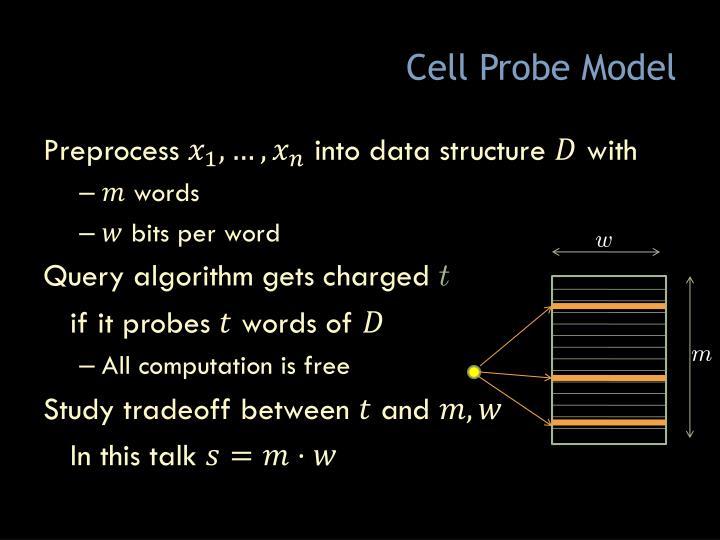 Cell Probe Model