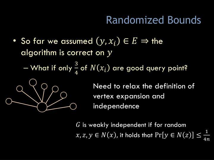 Randomized Bounds