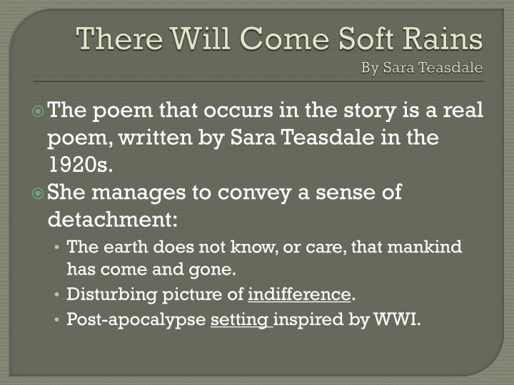 "august 2026 there will come soft Free essay: essay on the setting of ""august 2026: there will come soft rains"" by ray bradbury in ""august 2026: there will come soft rains"", a short story by."