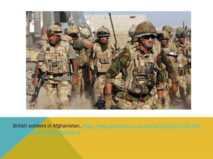 British soldiers in Afghanistan,