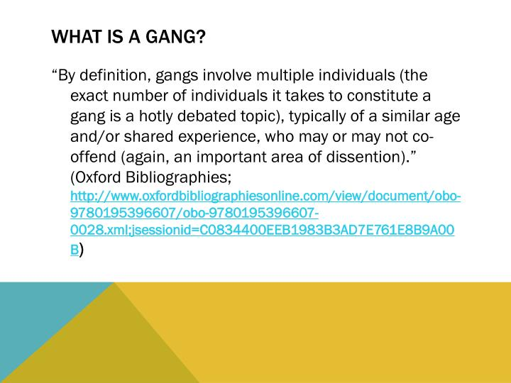 What is a gang?