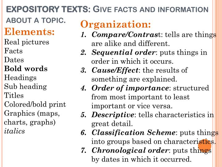 EXPOSITORY TEXTS:
