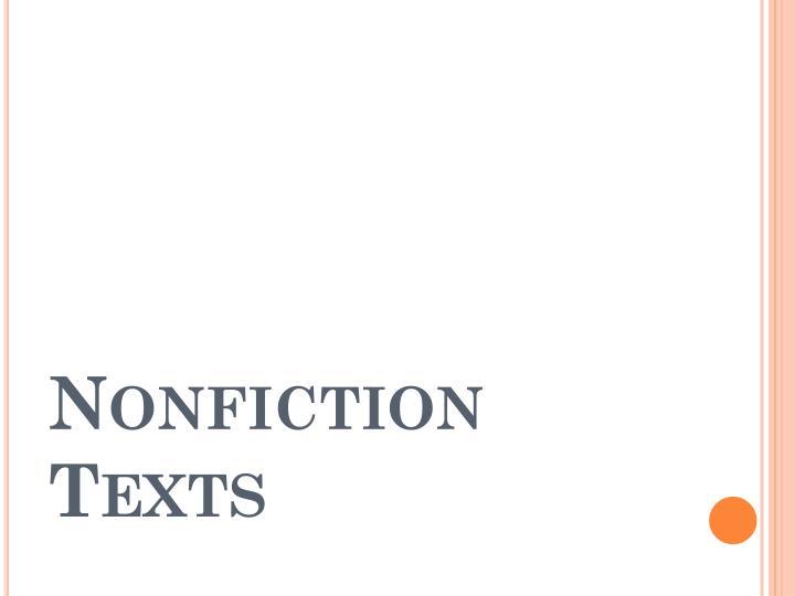 Nonfiction Texts