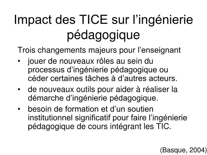 Impact des TICE sur l'ingénierie