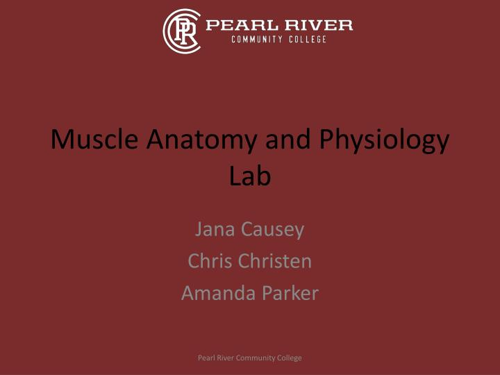 PPT - Muscle Anatomy and Physiology Lab PowerPoint