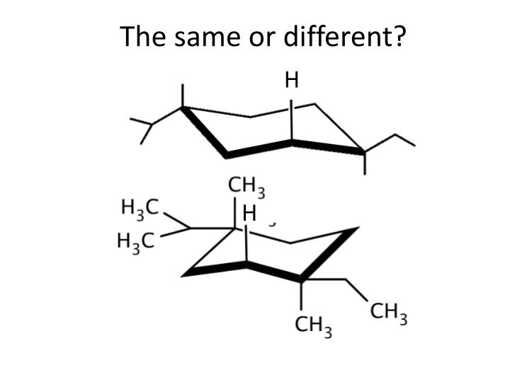 The same or different?