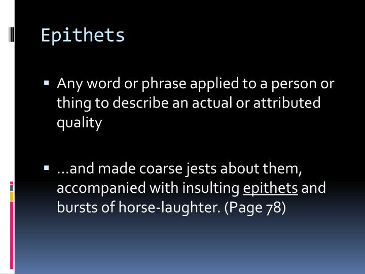 Epithets