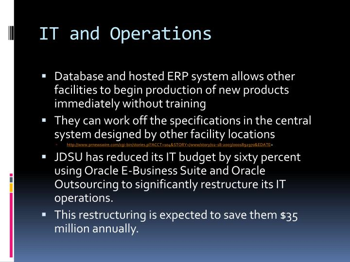 IT and Operations