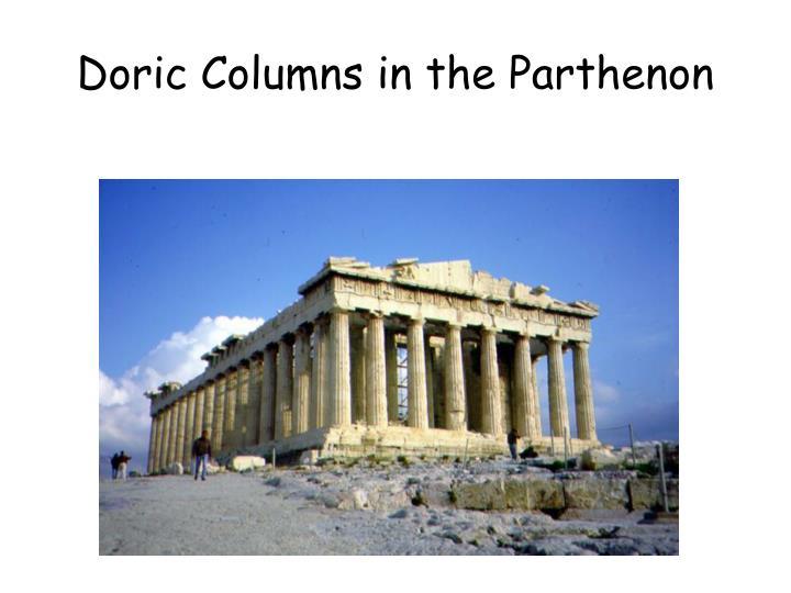 Doric Columns in the Parthenon