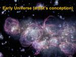 early universe artist s conception
