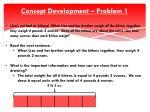 concept development problem 11