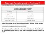 concept development problem 6