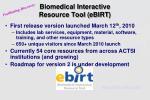 biomedical interactive resource tool ebirt
