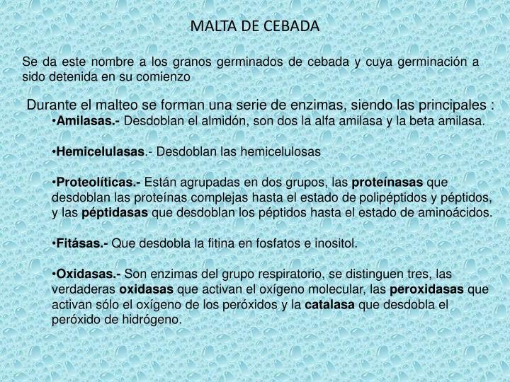 MALTA DE CEBADA