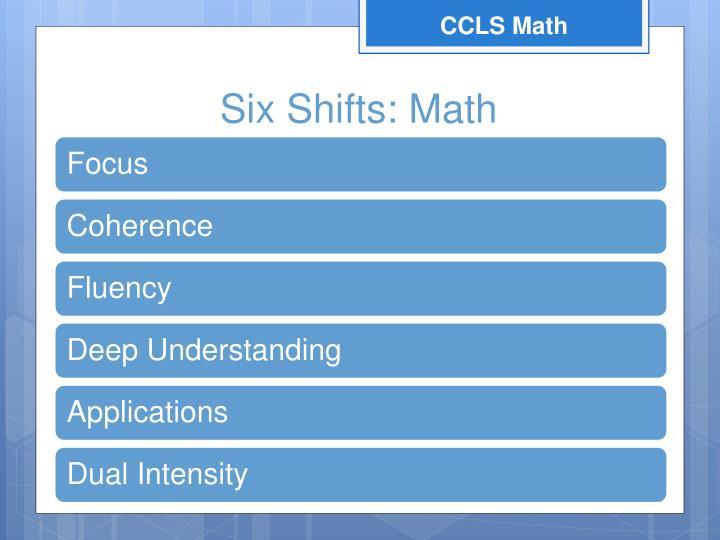 Six shifts math