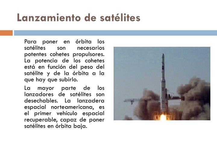 Lanzamiento de satélites