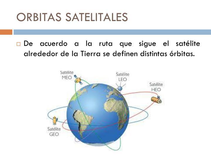 ORBITAS SATELITALES