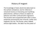 history of magnet