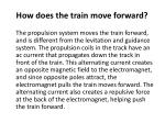 how does the train move forward