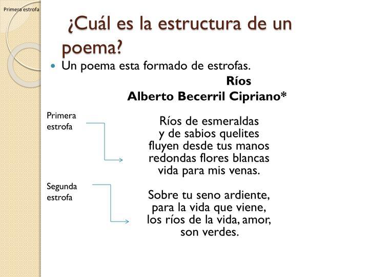 Cu l es la estructura de un poema