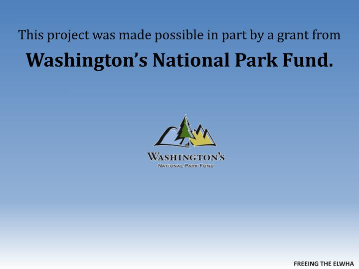 This project was made possible in part by a grant from
