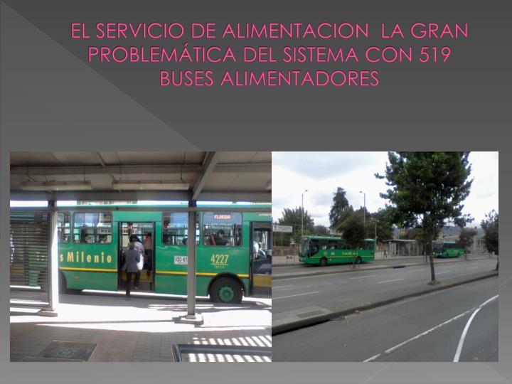 EL SERVICIO DE ALIMENTACION  LA GRAN PROBLEMÁTICA DEL SISTEMA CON 519 BUSES ALIMENTADORES