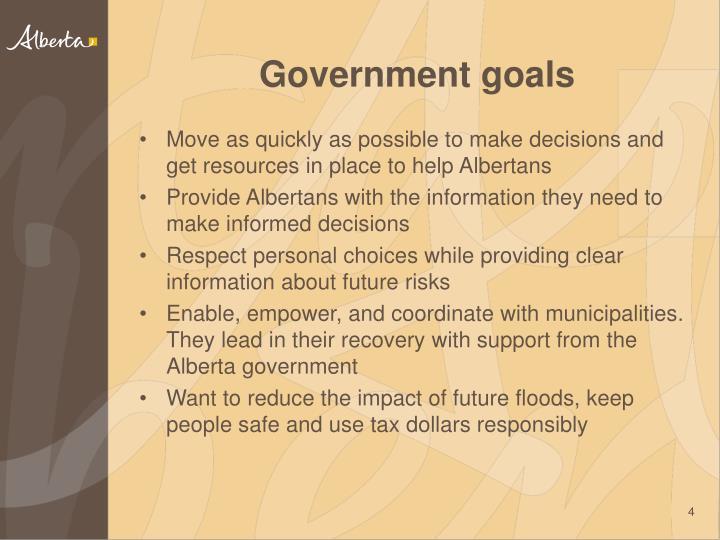 Government goals