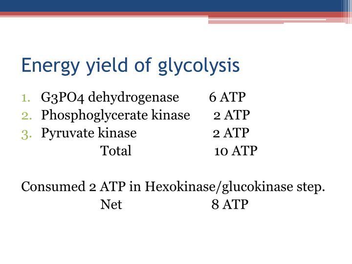 Energy yield of
