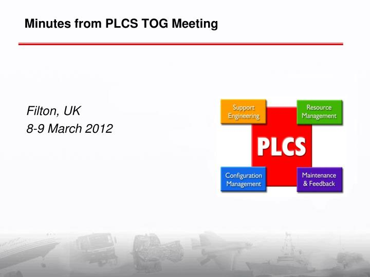 minutes from plcs tog meeting