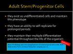 adult stem progenitor cells