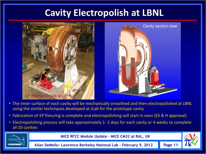 Cavity Electropolish at LBNL