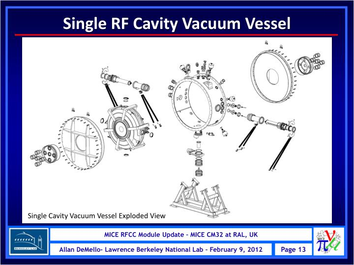 Single RF Cavity Vacuum Vessel