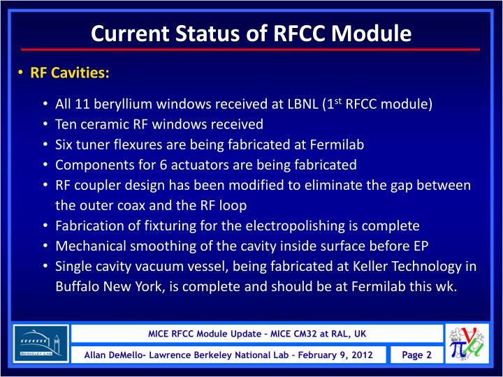 Current Status of RFCC Module