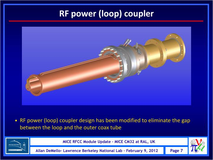 RF power (loop) coupler