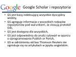 google scholar i repozytoria