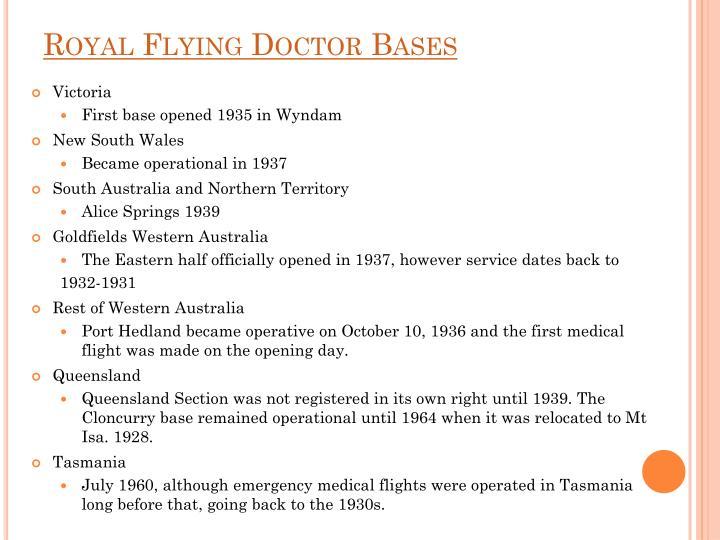 Royal Flying Doctor Bases