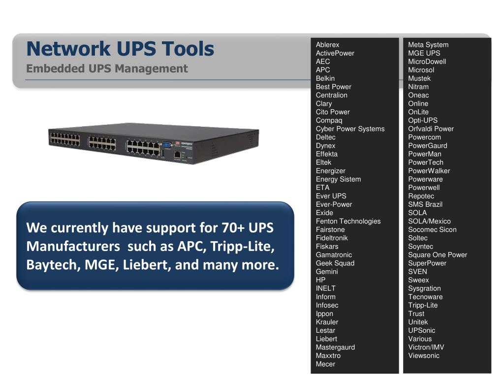PPT - Network UPS Tools PowerPoint Presentation - ID:2170354