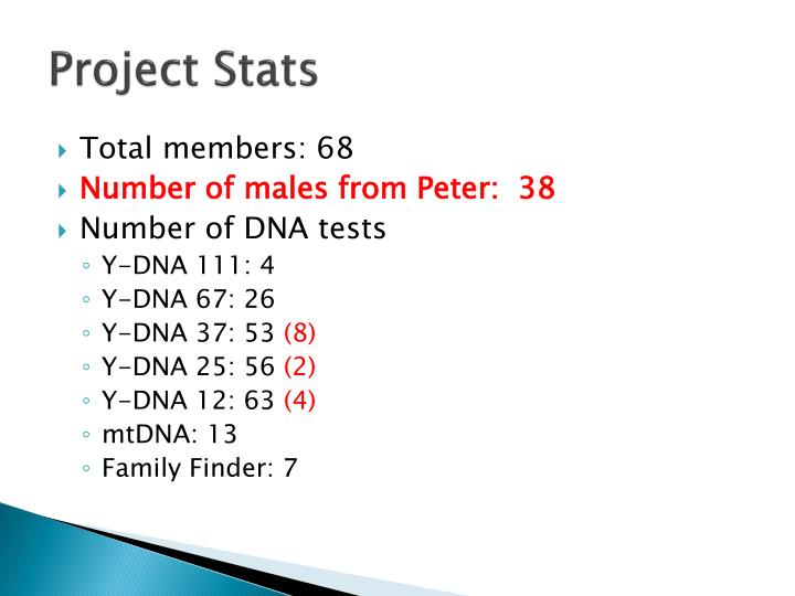 Project stats